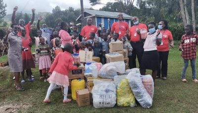 Macecall family with food donations